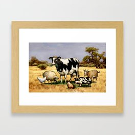 In the Pasture Framed Art Print