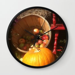 Fall Fun Wall Clock