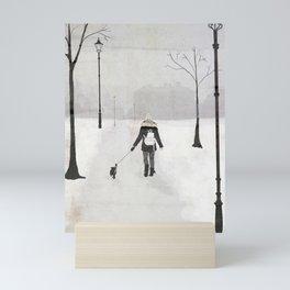 Winter Walk Mini Art Print