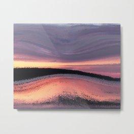 Sunset Ocean Wave Abstract Metal Print