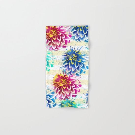 Colorful Dahlias Hand & Bath Towel