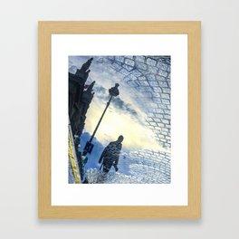 Walking Into Brickroad Sunset Framed Art Print
