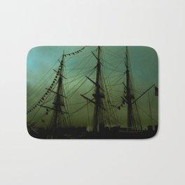Green ship Bath Mat