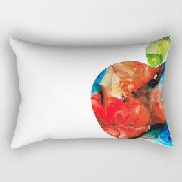 An Apple A Day - Colorful Fruit Art By Sharon Cummings Rectangular Pillow