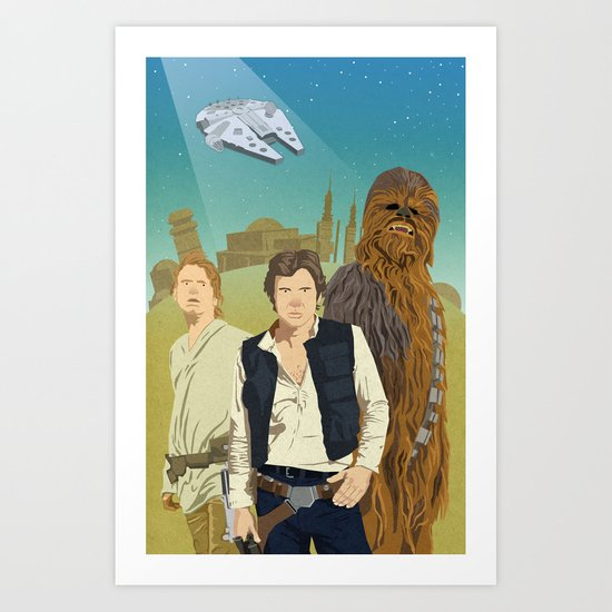 The Tatooine Three Art Print