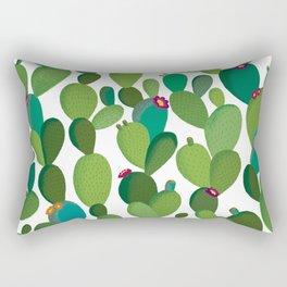 Cactus with flowers Rectangular Pillow