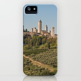 Hill Town Of San Gimignano iPhone Case