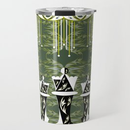 Green and Gold Embellished Queens Travel Mug