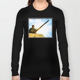 Vintage World War II Era Tank Commander Long Sleeve T-shirt