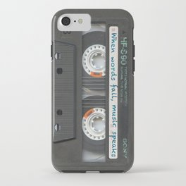 Cassette iPhone - Words iPhone Case