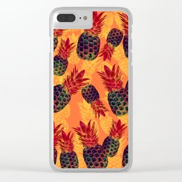 Pineapple Carnival Clear iPhone Case