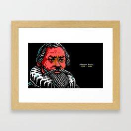 Johannes Kepler Portrait Framed Art Print