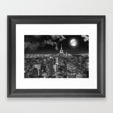 New York Under the Moon Framed Art Print