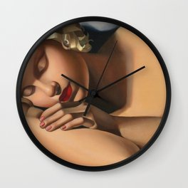 The Sleeping Girl (Kizette) still life portrait by Tamara de Lempicka Wall Clock