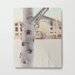 Aspen Tree Jackson Hole Mangy Moose Metal Print
