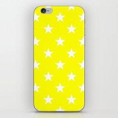Stars (White/Yellow) iPhone & iPod Skin