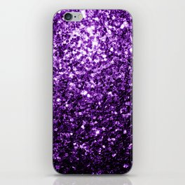 Beautiful Dark Purple glitter sparkles iPhone Skin