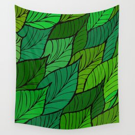 Lush / Leaf Pattern Wall Tapestry