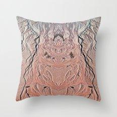 Beach Art Monster Throw Pillow