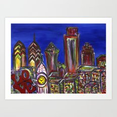 Philly Skyline LOVE Art Print