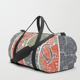 Six cities: NYC London Paris Berlin Rome Seville Duffle Bag