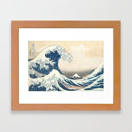 The Great Wave off Kanagawa by Katsushika Hokusai from the series Thirty-six Views of Mount Fuji Framed Art Print