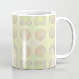 Abstract array of dots in light pastels on the yellow side Coffee Mug
