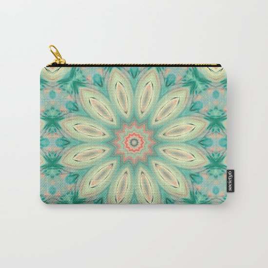 Daisy. Ornament bright turquoise . Carry-All Pouch
