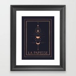 La Papesse or The High Priestess Tarot Framed Art Print