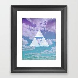 TODAY TOMORROW FOREVER Framed Art Print