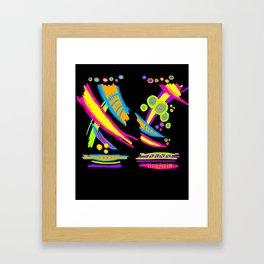 Neon Stripe Framed Art Print