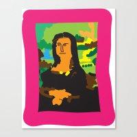 mona lisa Canvas Prints featuring Mona Lisa by John Sailor