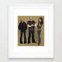 sons of anarchy Framed Art Prints featuring Sons of Anarchy Illustration by Bark Point Studio