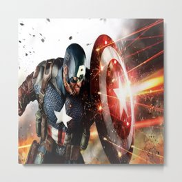 Man Of Captain In America Metal Print