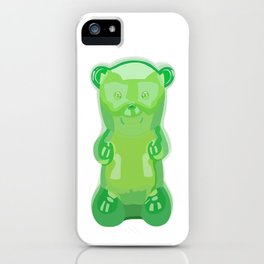 gummy bears green grape flavor iPhone Case