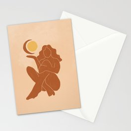 The Sun, The Moon and a Woman Stationery Cards