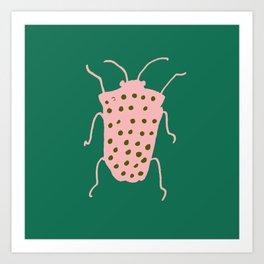 Beetle green Art Print