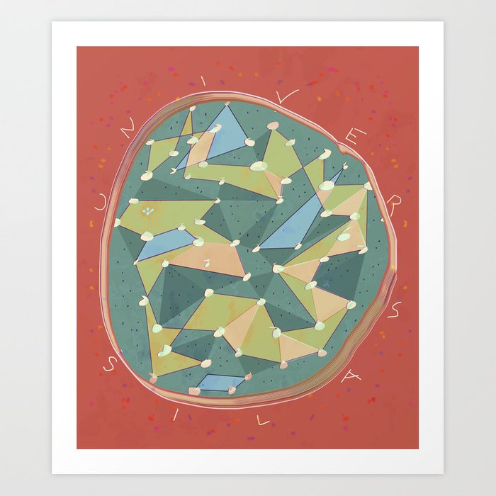 Alissia World Cosmic B Art Print