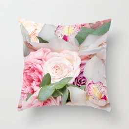 In a Giant's Flower Garden Throw Pillow