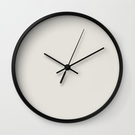 Sherwin Williams Trending Colors of 2019 Origami White (Off White) SW 7636 Solid Color Wall Clock