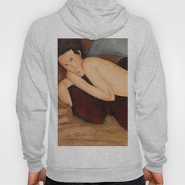 """Amedeo Modigliani """"Reclining Nude from the Back (Nu couché de dos)"""" Hoody"""