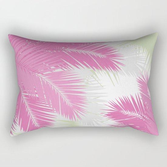 PINK TROPICAL PALM TREES Rectangular Pillow