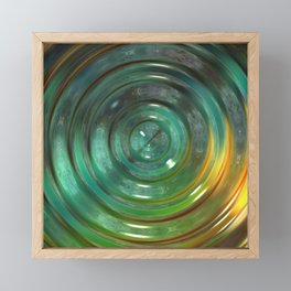 Metallic Green Swirl Framed Mini Art Print