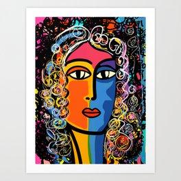 Mystic Gypsy Woman Fortune Teller by Emmanuel Signorino Art Print