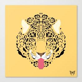 Jaguar Tongues Out Canvas Print