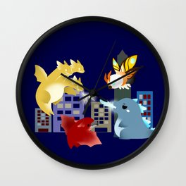 King Monsters Wall Clock