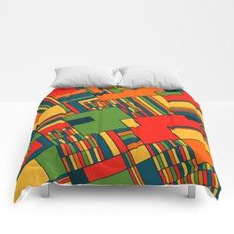 African geometric pattern Comforters