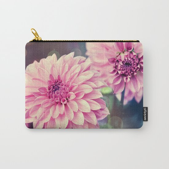 Pink Dahlia bokeh effect Carry-All Pouch