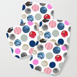 Winter Poka Dot Collage Coaster