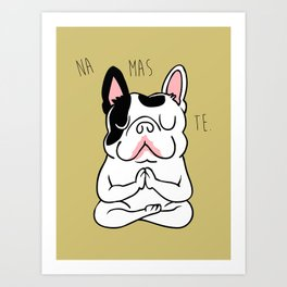 Namaste French Bulldog Art Print